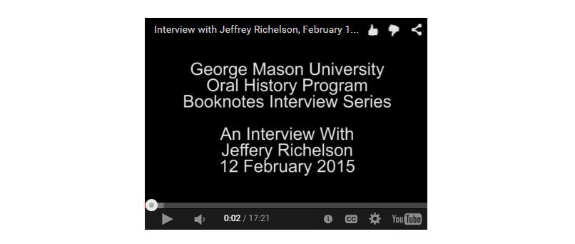 An Interview with Jeffrey Richelson.