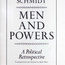 Men and powers : a political retrospective