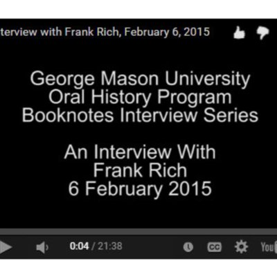 An Interview with Frank Rich.