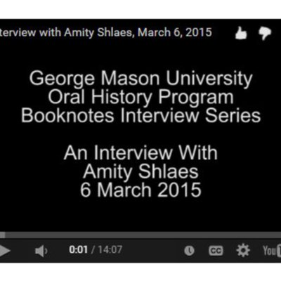 An Interview with Amity Shlaes.