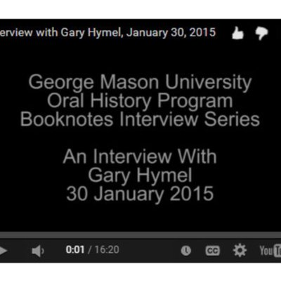 An Interview with Gary Hymel.