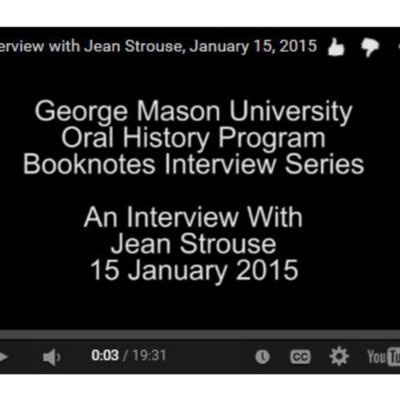 An Interview with Jean Strouse.
