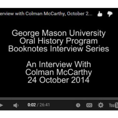 An Interview with Colman McCarthy.