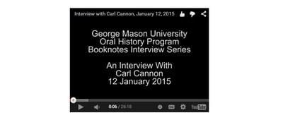 An Interview with Carl Cannon.