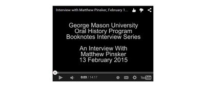 An Interview with Matthew Pinsker.
